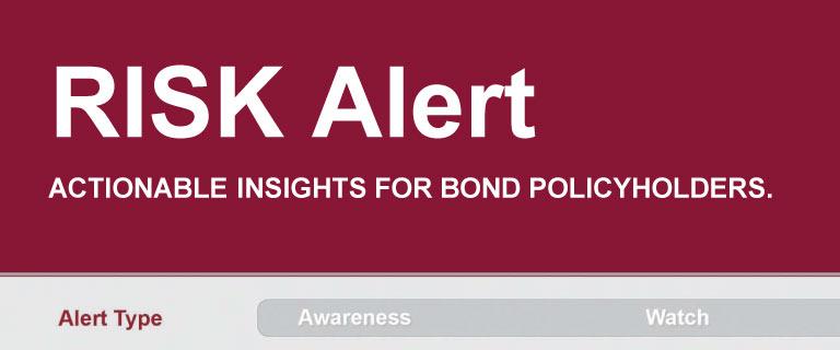 risk alert banner